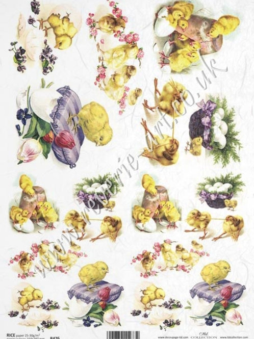 A4 rice paper R476 Vintage Easter