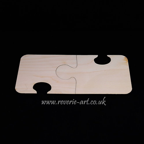 Set of 2 Wooden jigsaw puzzle coasters