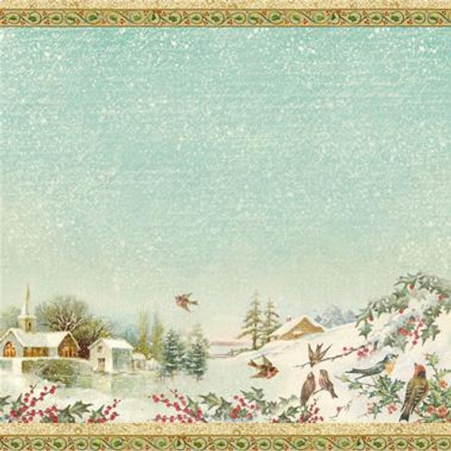 Stamperia Rice napkin 50x50cm - winter landscape 2