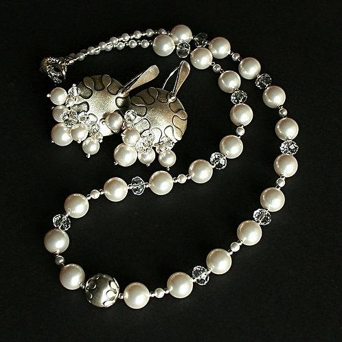 Simplicity - Sterling silver and Swarovski elegant jewellery set