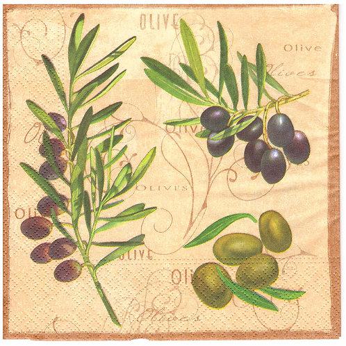 Napkins N1070 Lunch size 33x33cm Olives