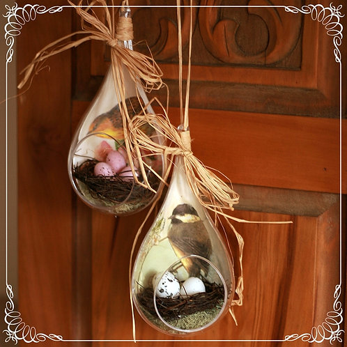 SOLD Nest in drop 2 - hanging decoration