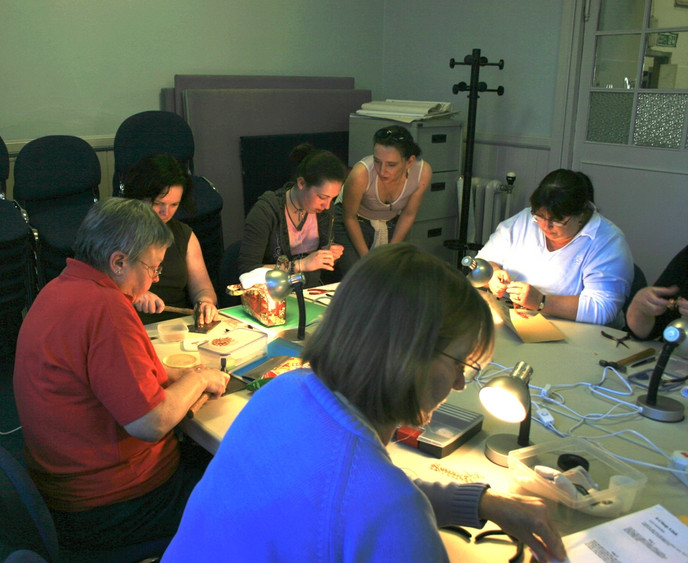 Jewellery class in Learning Centre