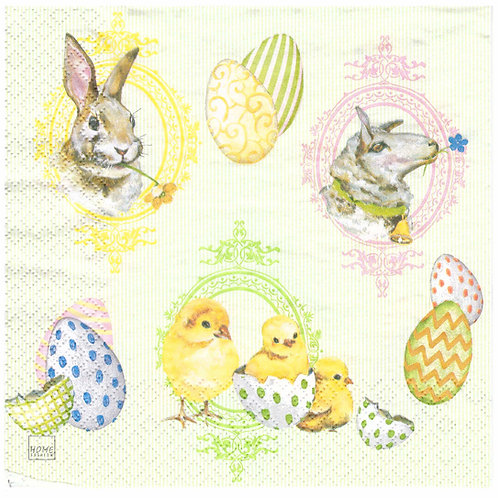 Napkins N958 Lunch size 33x33cm Easter