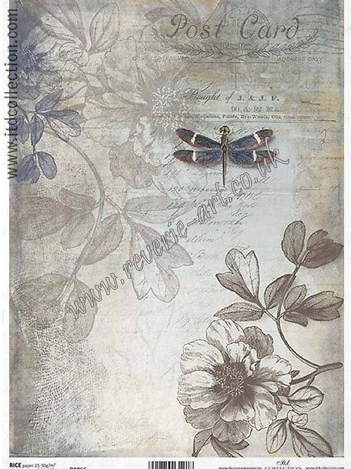 A4 rice paper R1066 Vintage backgrounds