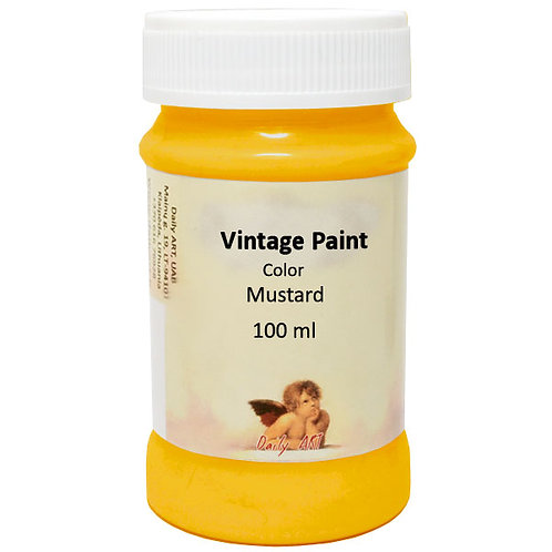 Vintage paint 100ml Daily Art Mustard