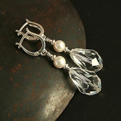 Bianca tears - Sterling silver earrings with Swarovski