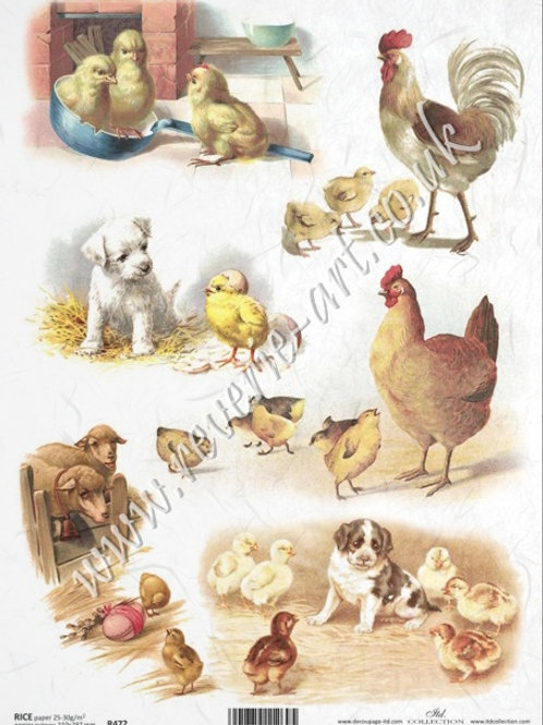 A4 rice paper R472 Vintage Easter