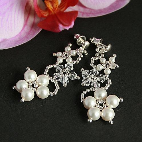 Secret garden  - Sterling silver earrings with Swarovski