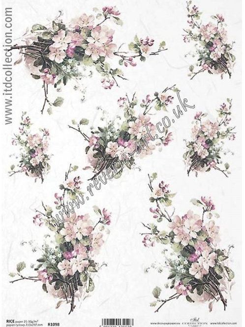A4 rice paper R1098 Flowers