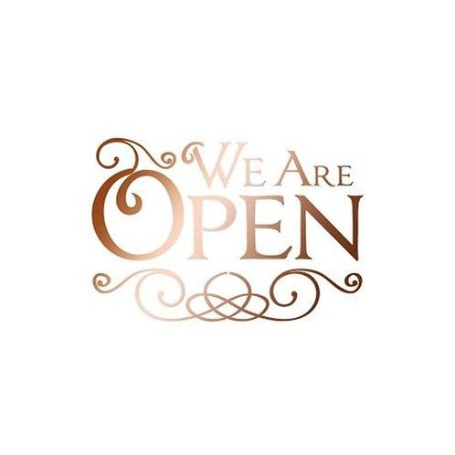 Stamperia Stencil 20x15 cm We are open