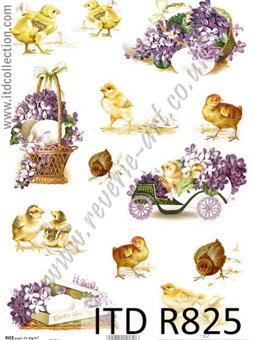 A4 rice paper R825 Vintage Easter