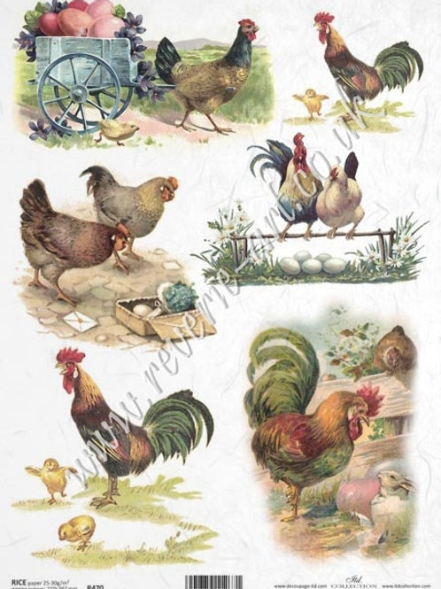 A4 rice paper R470 Vintage Easter