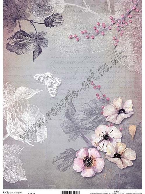 A4 rice paper R1062 Vintage backgrounds