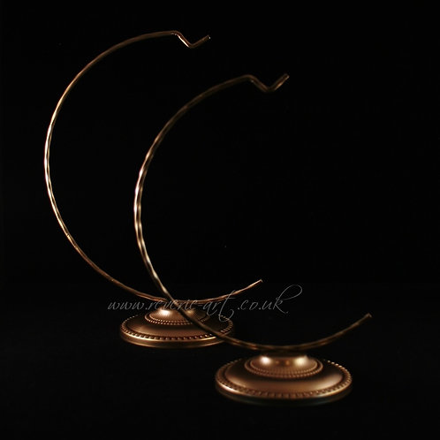Metal stands with decorative base - Gold for 12cm Bauble