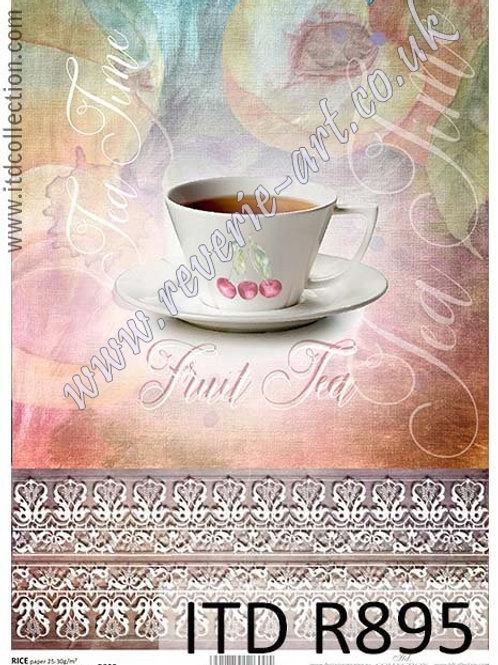 A4 rice paper R895 Tea time