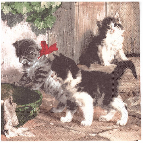 Napkins N1048 Lunch size 33x33cm Cats