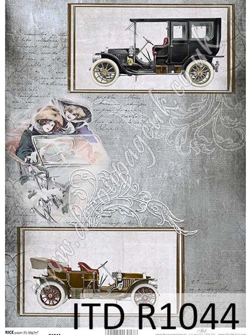 A4 rice paper R1044 Vintage car