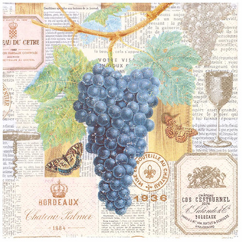 Napkins Lunch size 33x33cm Grapes