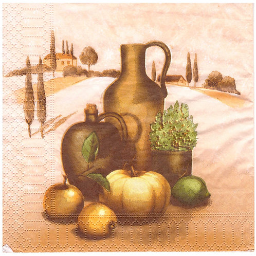 Napkins N1068 Lunch size 33x33cm Jars pumkins apples