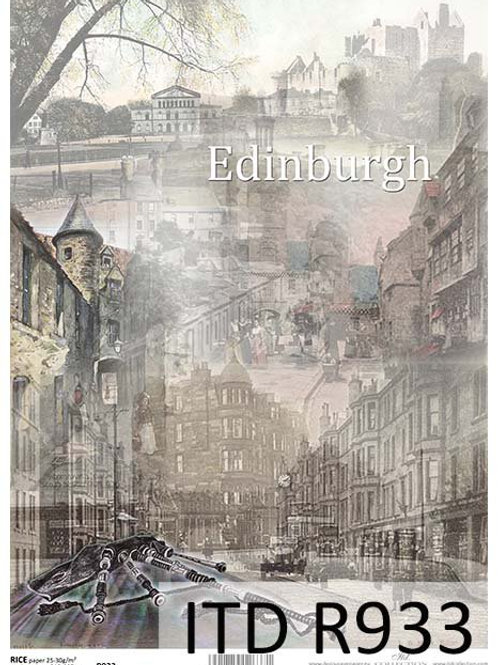 A4 rice paper R933 Vintage cities