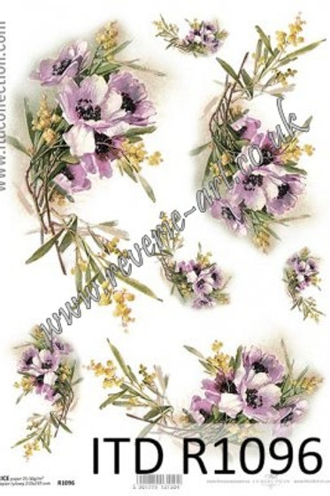 A4 rice paper R1096 Flowers