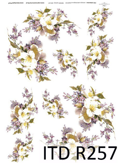 A4 rice paper R257 Spring flowers