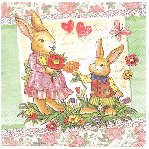 Napkins N934 Lunch size 33x33cm Easter  love