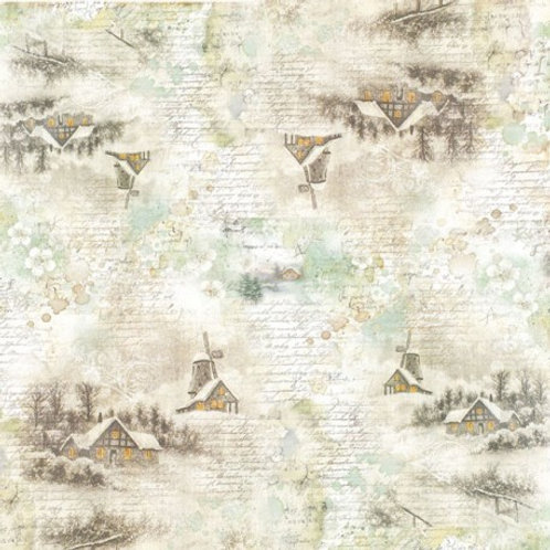 Stamperia Rice napkin 50x50cm - winter landscape1