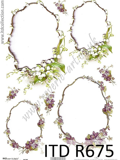 A4 rice paper R675 Spring flowers