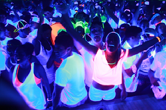 UV Glo Perth DJ, Photo Booth, SUV Glow White Party -  Perth DJ, Photo Booth, Speaker & Lighting Hire
