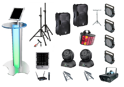 Party Power Pack - Audio & Lighting Hire in Perth