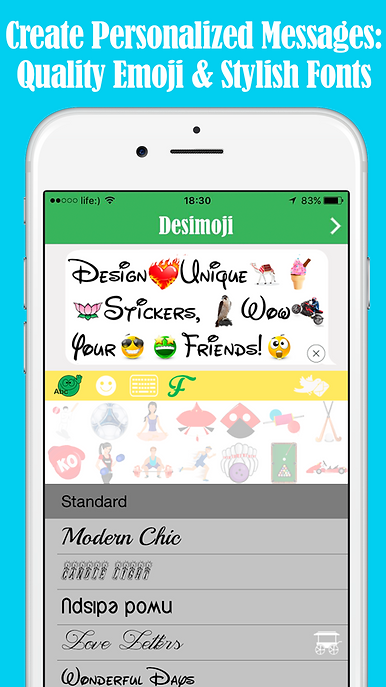 personalize messages quality emoji stylish fonts