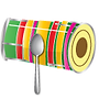 dholki drum music instrument emoji