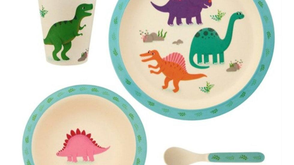 Dino Bamboo Dinner Set