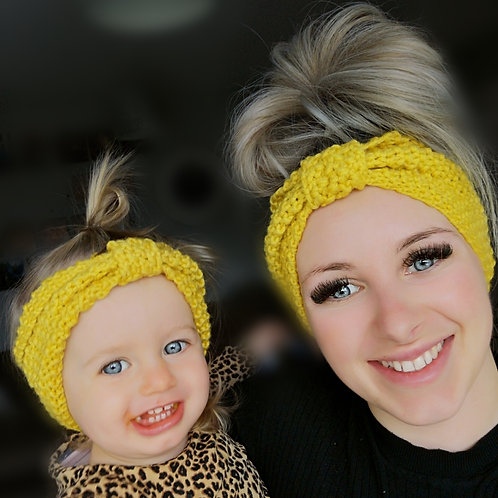Crochet mama+me Headbands (4 colours)