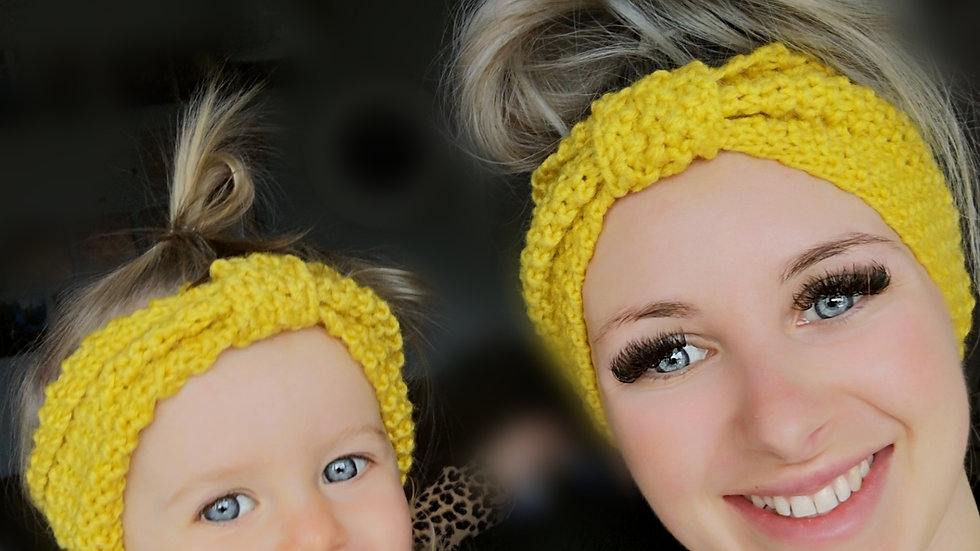 Crochet mama+me Headbands (4 colours)