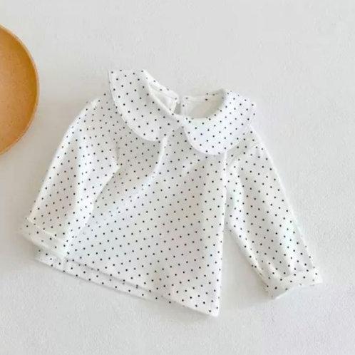 Dottie Polkadot Collar Top- personalisable