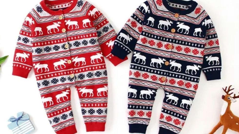 Christmas knitted romper