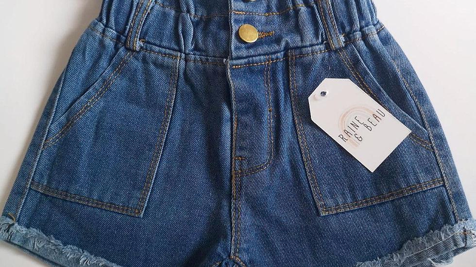 Ava Paperbag Denim Shorts