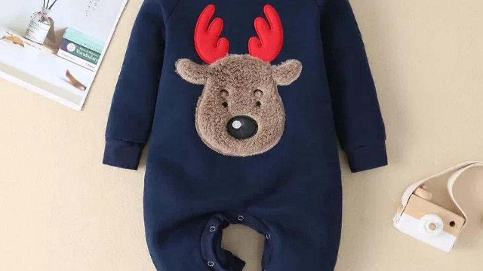 Fleece Reindeer Romper