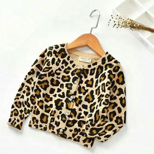 Betsy leopard print cardigan