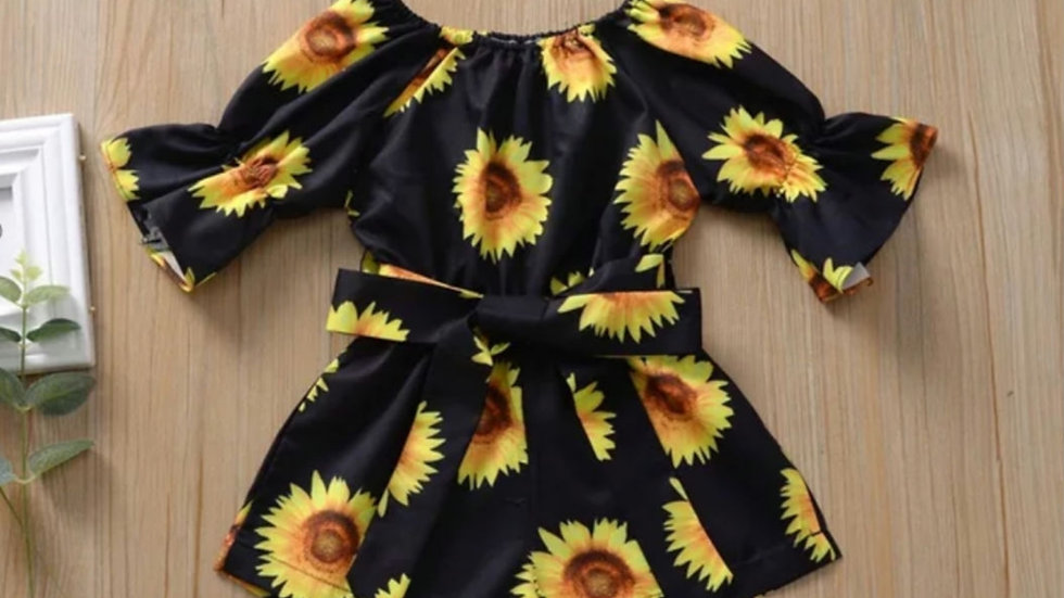 Sunflower off Shoulder playsuit