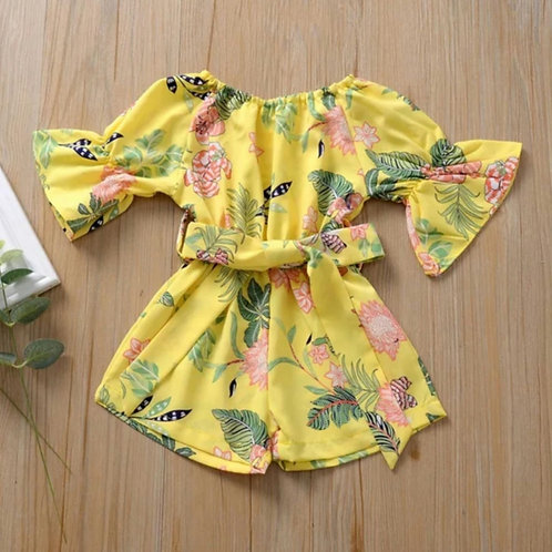 Yellow off Shoulder playsuit