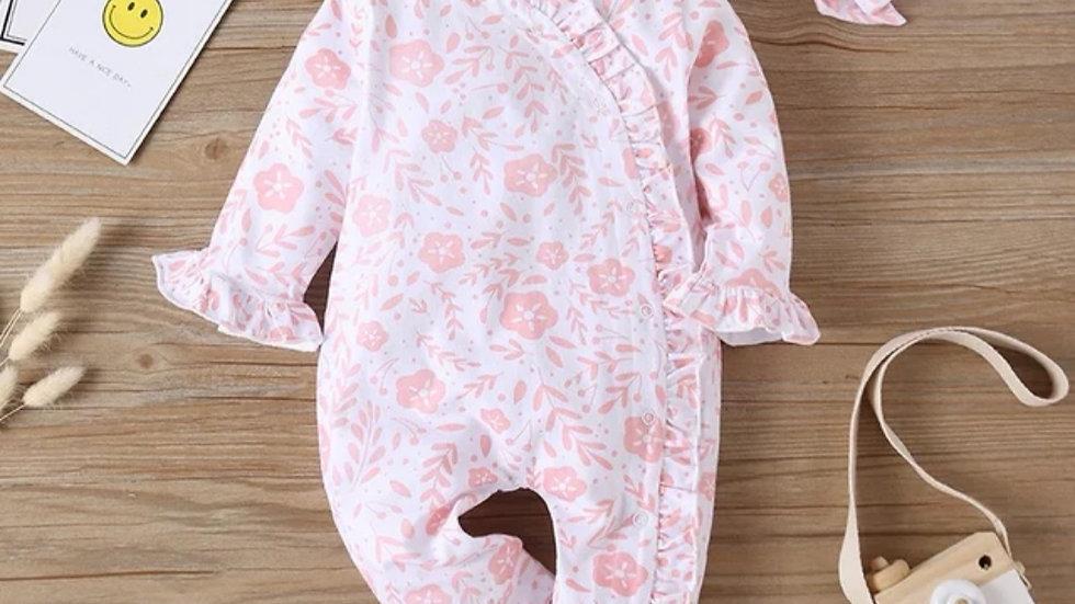 Lola Pink Floral Romper