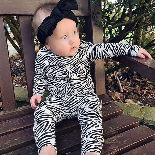 Tallulah zebra print Romper