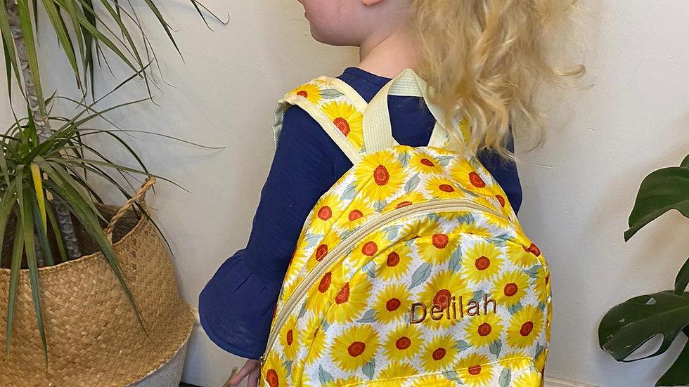 Personalised Sunflower Backpack