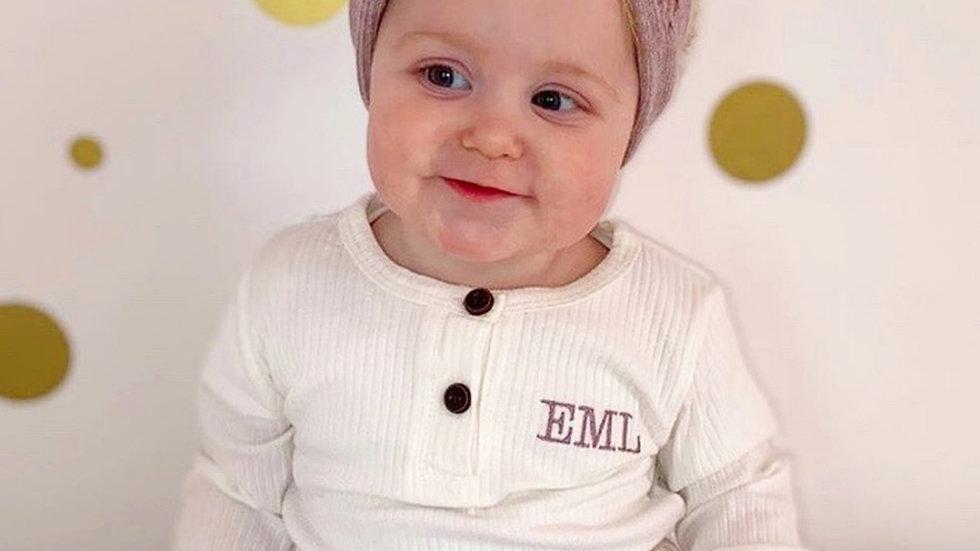 Personalised Baby Ribbed Loungewear