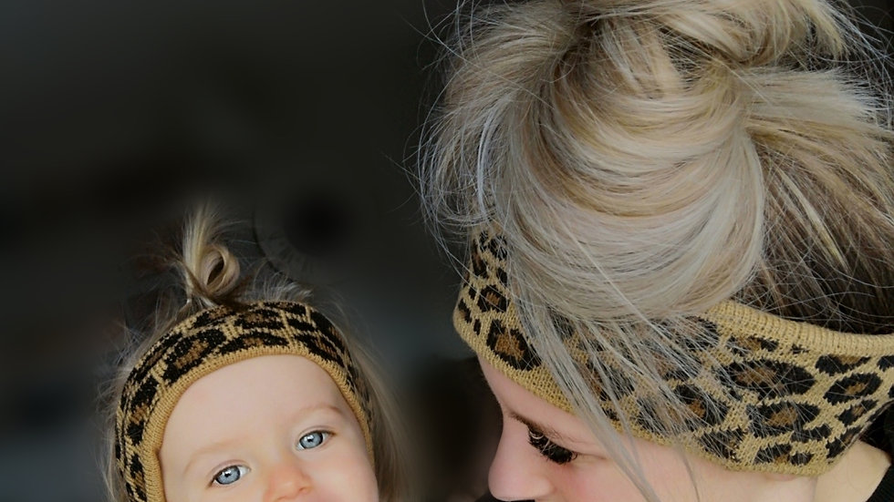 Mama+me leopard print head bands