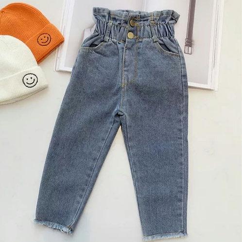 Belle paper-bag jeans
